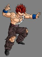 Gohan GT SSJG, Battle Damaged by theothersmen