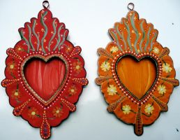 Two Gift Heart Nichos by fleurnoirea