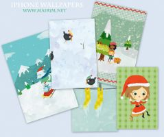 iPhone Wallpaper Xmas Pack by mairimart