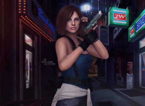 Jill Valentine RE3 by: Wilson Burton by wilsonBurton20