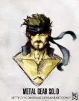 Metal Gear Solid Big Boss by PgomesART