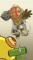 034 - Katamari Vs. Big Daddy by Poorboy-Comics