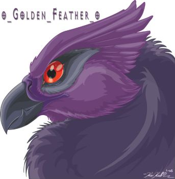 neopets - golden feather by YamiGriffin