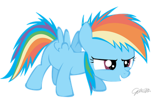 Filly Rainbow dash vector by PinkiePieZ
