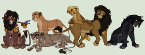 Big cats tribe by Lerynn