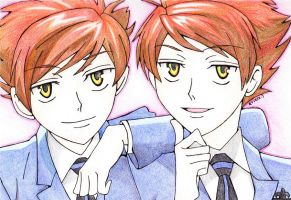 OHSHC: Hitachiin twins. by PeaceByPiece95