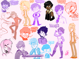 A sketchdump full of idiots by Fly-Andi