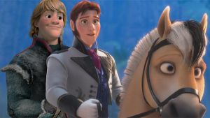 Kristoff + Hans on Sitron - Hansoff rides again! by cdpetee