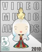 Lady Gaga VMA 2010 White by brunopardinho