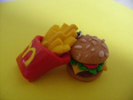 Mcdonald's Fries And Burger by PossumPip-Creations