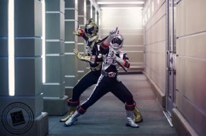Go-On Gold and Silver - Engine Sentai Go-Onger by mariesturges