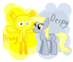 Penny and Derpy by Derp749