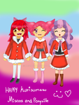 Happy Kurisumasu Misora and Ponyville by Hasunecchi