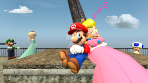 Mario and Peach Moment by BradMan267