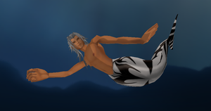 Xemnas Merman by Valforwing