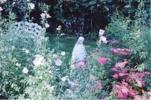 mary in the flowers by DutchOvenSupreme