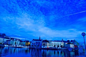 blue town by barttekb