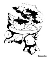 ink Torterra by unbadger
