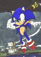 Sonic painting by Knuckles-933743