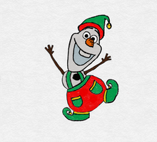Olaf, Santa's little helper! by TortallMagic