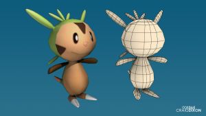 D3D 008 - Chespin by SamuelLAssassin