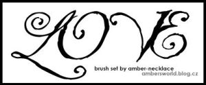 LOVE brush set by amber-necklace
