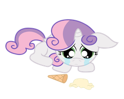 Crying Sweetie Belle Redone by Bonaldo-Kun