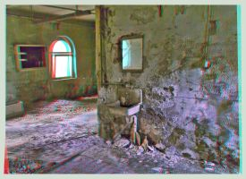 Abandoned psychiatry in decay ::: Anaglyph HDR 3D by zour