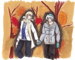 Ice and Nor autumn by AnnHolland