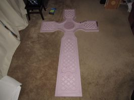 6 Foot Celtic Cross Tombstone by MercuryCrest
