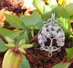 Lilac Amethyst and Rose Quartz Tree of Life *SOLD* by SerenityWireDesigns