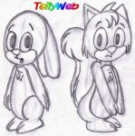 Buble Bunny and Sisqo Squirrel by tellywebtoons