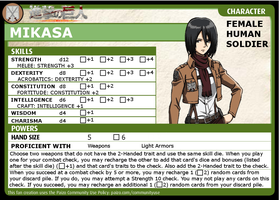 Pathfinder ACG Character: Mikasa (Part 4 of 4) by redguard153