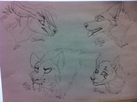 headshot sketches by nightspiritwing