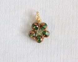 Wire and Bead Pentacle Pendant by SerenFey