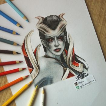 Queen Of Pain Dota 2 by zzjkaa