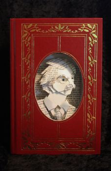 Mark Twain Portrait Book Sculpture by wetcanvas