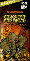 Conquest for Death Gig Poster by painsugar