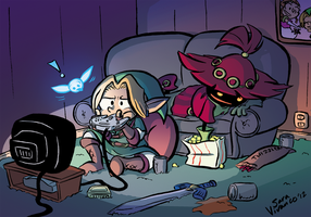 Link and Skull Kid: Bros. by halfeatencandybars