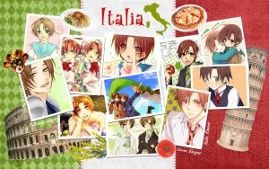 Hetalia wallpaper Italy by Everelle