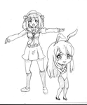 Doodles 14 (HaruHi/Mikuru) by MountainOfFeathers