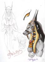Anubis sketch by MissInfected