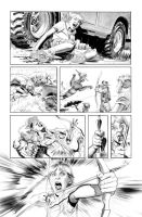 Green Arrow 7 Page 3 B+W art by mikemayhew