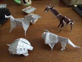 Origami Animals by Joeseares96