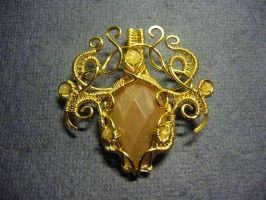 Golden Treasures - Pendant by Carmabal