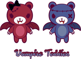 Vampire Teddies by mAi2x-chan