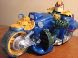 judge dredd and bike customwip by ebooze