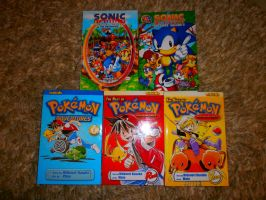 New books: Sonic and Pokemon by SpriteGirl