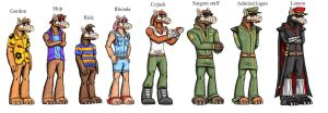 ALF character designs by Ravenfire5
