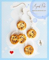 Clay Chocolate Chip Cookie Earrings by AgentRose